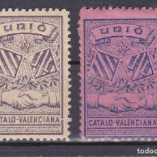 Sellos: LOTE DE 2 VIÑETAS DE LA GUERRA CIVIL DE LA UNIO CATALO-VALENCIANISTA. Lote 109388083