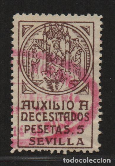 SEVILLA, 5 PTAS, AUXILIO A NECESITADOS- ALLEPUZ Nº 85 ,VER FOTO (Sellos - España - Guerra Civil - De 1.936 a 1.939 - Usados)