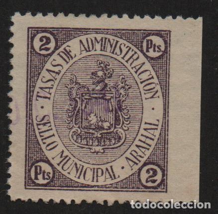 ARAHAL,(SEVILLA), 2 PTAS, -TASAS DE ADMINISTRACION- ,VER FOTO (Sellos - España - Guerra Civil - De 1.936 a 1.939 - Usados)