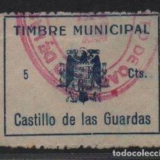Sellos: CASTILLO DE LAS GUARDAS,(SEVILLA), 5 CTS, -TIMBRE MUNICIPAL- ,VER FOTO. Lote 110067195