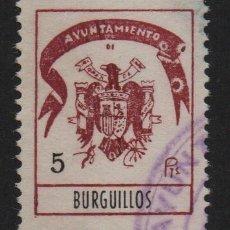 Sellos: BURGUILLOS,(SEVILLA), 5 PTAS, -SELLO MUNICIPAL- ,VER FOTO. Lote 110093967