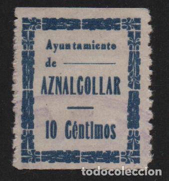 AZNALCOLLAR,(SEVILLA), 10 CTS, ALLEPUZ Nº 1 ,VER FOTO (Sellos - España - Guerra Civil - De 1.936 a 1.939 - Usados)