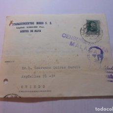 Sellos: TARJETA POSTAL CIRCULADA CON CENSURA MILITAR MALAGA Y CON SELLO PRO MALAGA DE 5 CTS 1938. Lote 110203695