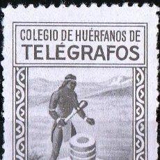 Sellos: COLEGIO DE HUERFANOS DE TELEGRAFOS.APORTACION VOLUNTARIA.10CTS.GÁLVEZ Nº 71.**MNG(SIN GOMA )( 18-15). Lote 110279843