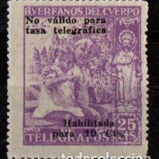 Sellos: SELLO NUEVO SIN CHARNELA. HUERFANOS DEL CUERPO DE TELEGRAFOS. NO VALIDO PARA TASA TELEGRAFICA. . Lote 110433727