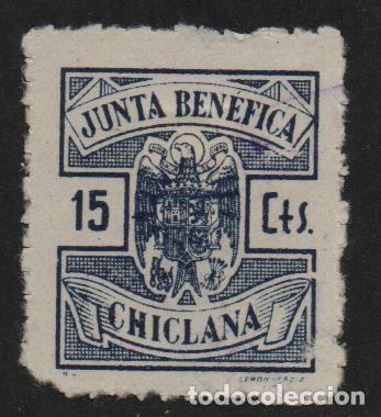 CHICLANA, -CADIZ- 15 CTS, -JUNTA BENEFICA- ALLEPUZ Nº 2, VER FOTO (Sellos - España - Guerra Civil - De 1.936 a 1.939 - Usados)