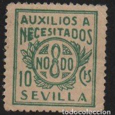 Sellos: SEVILLA, 10 CTS, -AUXILIO A NECESITADOS- ALLEPUZ Nº 70 ,VER FOTO. Lote 110832039