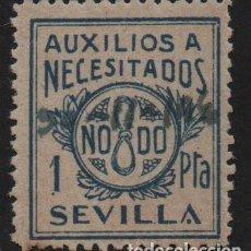 Sellos: SEVILLA, 1 PTA, -AUXILIO A NECESITADOS- ALLEPUZ Nº 74 ,VER FOTO. Lote 110832339