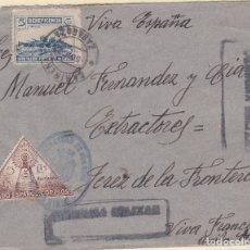 Sellos: CARTA DE CARIÑENA A JEREZ, FRANQUICIA DE CORREOS DE CARIÑENA Y BENEFICOS MATASELLADOS.. Lote 110871895