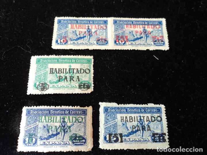 HUÉRFANOS CORREOS 1946 HABILITADOS, (Sellos - España - Guerra Civil - Beneficencia)