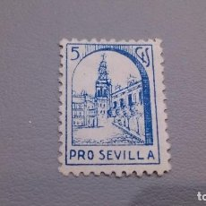 Sellos: VIÑETA - GUERRA CIVIL - PRO SEVILLA - 5 CTS - MNG - NUEVA.. Lote 111057015
