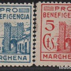 Sellos: MARCHENA,(SEVILLA), 5 CTS. -BENEFICENCIA- ALLEPUZ Nº 1 Y 2 ,VER FOTO. Lote 111444835