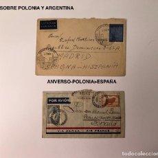 Sellos: SELLOS LCV10 2 SOBRES POLONIA Y ARGENTINA(40€). Lote 112070031