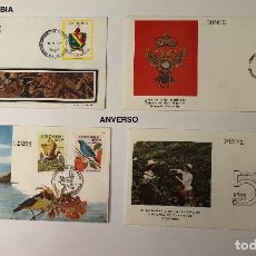 Sellos: SELLOS LCV10 4 SOBRES COLOMBIA(36€). Lote 112071579