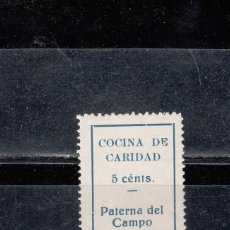 Sellos: PATERNA DEL CAMPO. COCINA DE CARIDAD. 5 CTS.. Lote 112463859