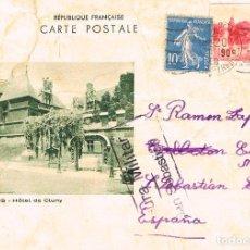 Sellos: AÑO 1937, CARTA ENVIADA DESDE FRANCIA A SAN SEBASTIAN CON CENSURA MILITAR SAN SEBASTIAN, 2-1-1937. Lote 112554967
