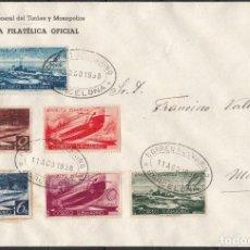 Sellos: ESPAÑA , 1938 EDIFIL Nº 775 / 780 , CORREO DEL SUBMARINO , SERIE COMPLETA EN CARTA. . Lote 112650871
