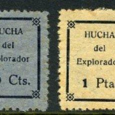 Sellos: BOY SCOUTS DE ESPAÑA. HUCHA DEL EXPLORADOR. 6 SELLOS DE INICIOS DEL SIGLO XX. ÚLTIMA EN STOCK.. Lote 112680594
