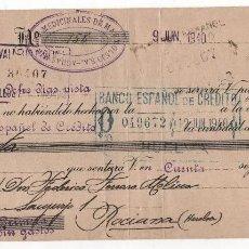 Sellos: BOLLULLO- HUELVA- PAGARE DE AGUAS MINERO MEDICINALES DE MARMOLEJOS, BANCO E. CREDITO- HUELVA- VER FO. Lote 112688127