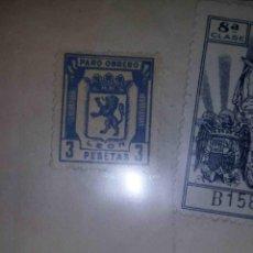 Sellos: PARO OBRERO LEÓN. BENUZA. 1943.. Lote 113025479