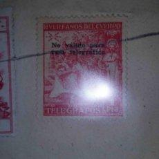 Sellos: HUÉRFANOS DEL CUERPO DE TELÉGRAFOS. MADRID. 1942.. Lote 113025599