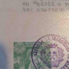 Sellos: MUTUALIDAD CUERPOS DE MINAS. HUÉRFANOS PREVISIÓN Y AUXILIO. MADRID 1945.. Lote 113026223
