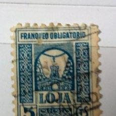Sellos: FRANQUEO OBLIGATORIO LOJA, 5 CTS USADO . Lote 113135903