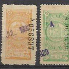 Sellos: 6002-LOTE SELLOS FISCALES VIZCAYA 1926 CATALOGO ALEMANY 75,00€ USADOS EFECTOS DE COMERCIO.SPAIN REVE. Lote 113282427