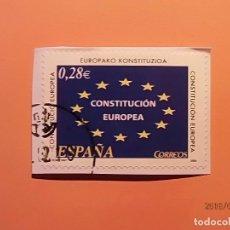 Sellos: ESPAÑA 2005 - CONSTITUCION EUROPEA - EDIFIL 4141 - BANDERA UNION EUROPEA.. Lote 113843159
