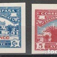 Sellos: COCINAS ECONOMICAS. AYAMONTE (HUELVA).G.CIVIL . SERIE S/ D .**.MNH(18-130). Lote 113858355
