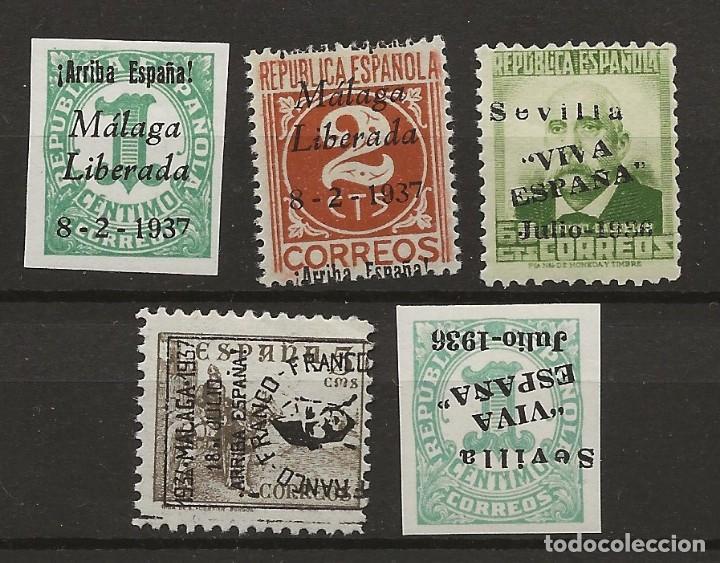 R30/ ESPAÑA, LOTE LOCALES PATRIOTICOS, NUEVOS */(*) (Sellos - España - Guerra Civil - De 1.936 a 1.939 - Nuevos)