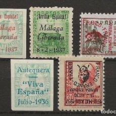 Sellos: R30/ ESPAÑA, LOTE LOCALES PATRIOTICOS, NUEVOS */(*). Lote 114172783