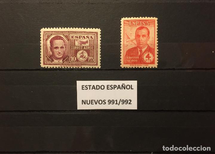 SELLOS ESPAÑA 991/992** NUEVOS,AÑO 1945, HAYA Y GARCÍA MORATO (Sellos - España - Guerra Civil - De 1.936 a 1.939 - Nuevos)