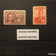 Sellos: SELLOS ESPAÑA 991/992** NUEVOS,AÑO 1945, HAYA Y GARCÍA MORATO. Lote 114401591