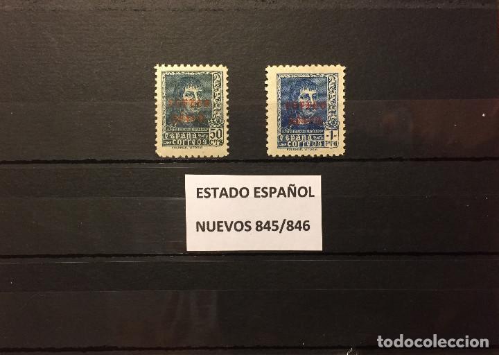 SELLOS ESPAÑA 845/846** NUEVOS,AÑO 1938 FERNANDO EL CATOLICO, HABILITADOS (Sellos - España - Guerra Civil - De 1.936 a 1.939 - Nuevos)