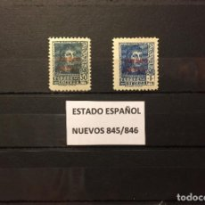 Sellos: SELLOS ESPAÑA 845/846** NUEVOS,AÑO 1938 FERNANDO EL CATOLICO, HABILITADOS. Lote 142797452
