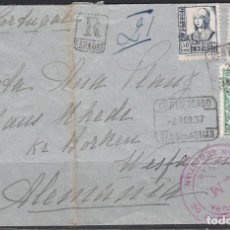 Sellos: CARTA , SAN SEBASTIAN - ALEMANIA , MARCA CENSURA GOBIERNO MILITAR DE SAN SEBASTIAN ,. Lote 114456451