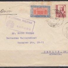 Sellos: BURGOS - BERLÍN , CENSURA MILITAR BURGOS . Lote 114470619