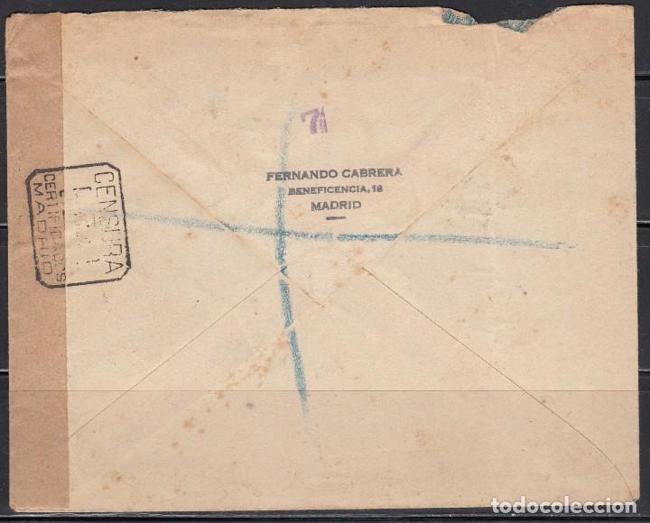 Sellos: MADRID - LONDRES CORREO CERTIFICADO , , CENSURA CERTIFICADOS MADRID - Foto 2 - 114476599