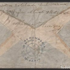 Sellos: CARTA -HUESCA A BARCELONA, 4º CIA. 133 BRIGADA MIXTA 31 DIVISION, VER FOTOS. Lote 114522079