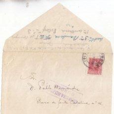Sellos: FRONTAL CON SOLAPA DEL CUARTEL DE FALANGE DE BURGOS A ÁVILA. 1938. CENSURA MILITAR. Lote 114574023