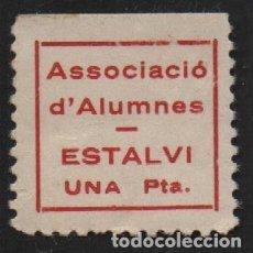 Sellos: ESTALVI, 1 PTA, ASSOCIACIO D!ALUMNES, VER FOTO. Lote 114609015