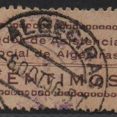 Sellos: CADIZ, 5 CTS, CASTAÑO CLARO,PAPEL CREMA,VER FOTO. Lote 114610843