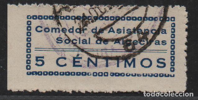 CADIZ, 5 CTS, AZUL, VER FOTO (Sellos - España - Guerra Civil - De 1.936 a 1.939 - Usados)