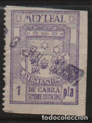 CABRA, 1 PTA, TIMBRE MUNICIPAL, VER FOTO (Sellos - España - Guerra Civil - De 1.936 a 1.939 - Usados)