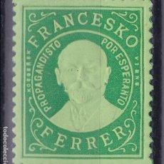 Sellos: CC8-VIÑETA FRANCESKO FERRER ESPERANTO . ** SIN FIJASELLOS. Lote 115247871