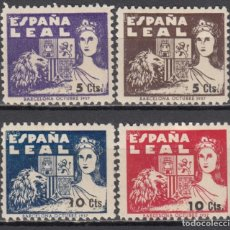 Sellos: ESPAÑA , BARCELONA , ESPAÑA LEAL , 4 VALORES , . Lote 115328323