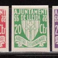 Sellos: EMISIÓN LOCAL BENEFICA , - AJUNTAMENT DE LLEIDA - ( ALLEPUZ 3/5 S ). Lote 115329963