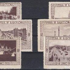 Sellos: 1933 - FERIA DE BARCELONA 6 UNIDADES (TAMAÑO GRANDE). Lote 115408603