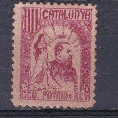 Sellos: VIÑETA DE CATALUNYA DEU, PATRIA & REI - VISCAN LOS FURS. Lote 115563763